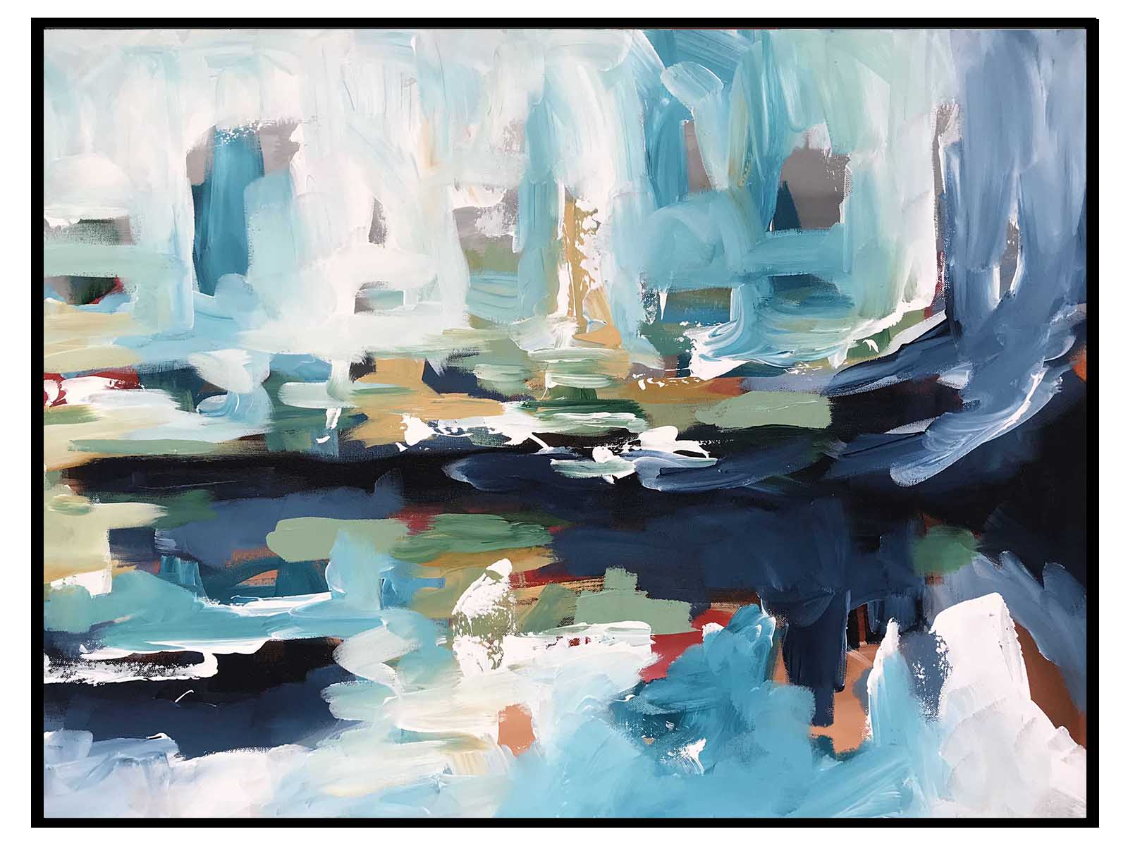 After The Smoke Clears Part 1 - 76x60 cm - Original Painting