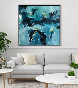 One Minute To Midnight - 122x122 cm - Original Painting