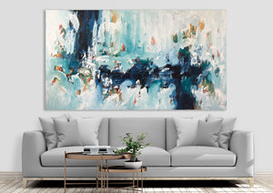 Listening To The Waves - 180x102 cm - Original Painting