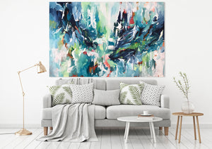 Sound Of The Water - 152x100 cm - Original Painting-OmarObaid.com