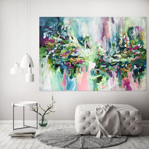 Without You There Is No Tomorrow - 152x107 cm - Original Painting-OmarObaid.com