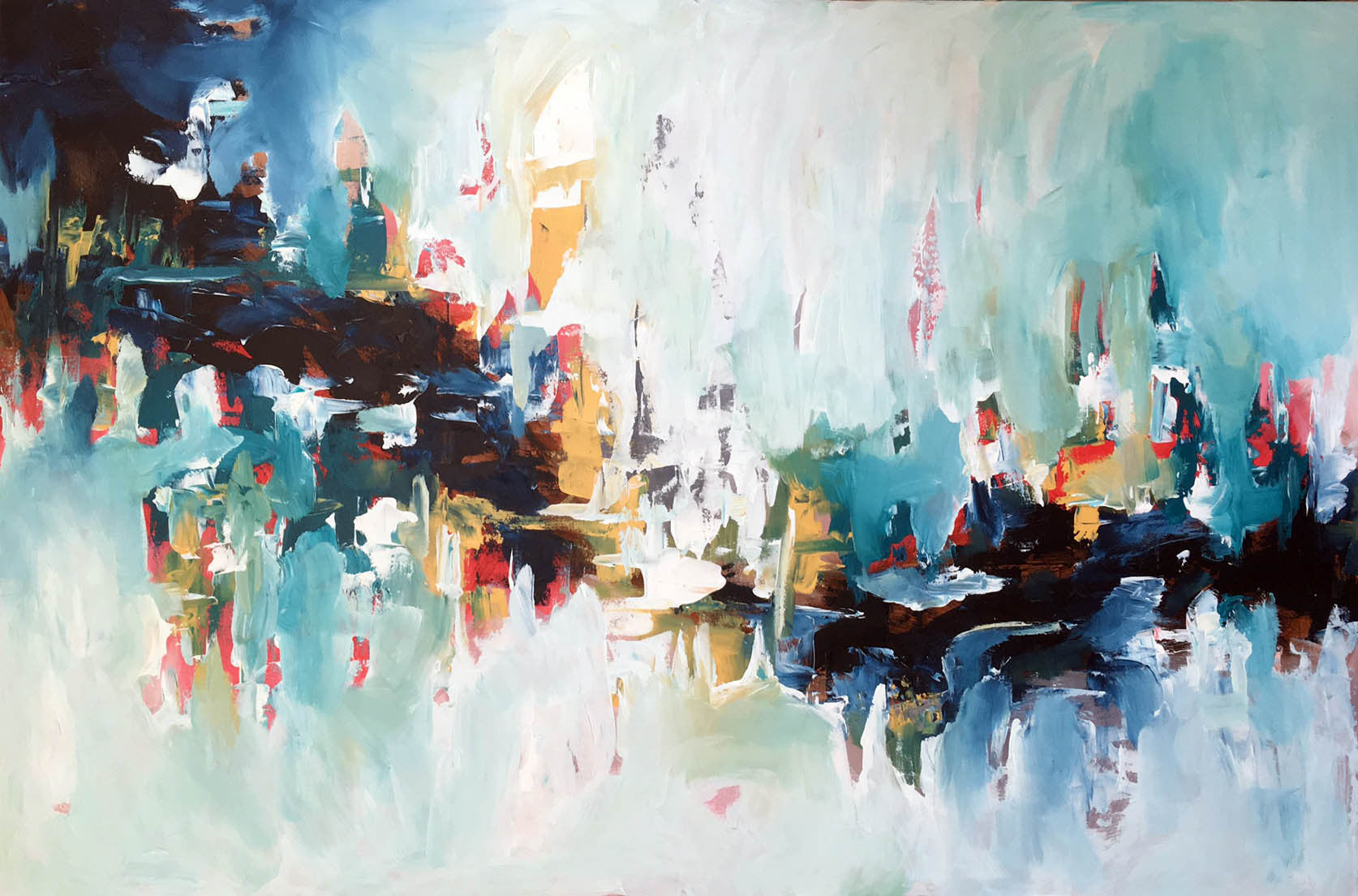 Subtraction II - 150x100 cm - Original Painting-OmarObaid.com