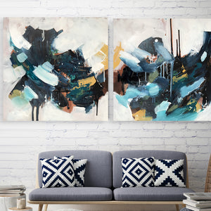 The Outsider - 152x76 cm - Triptych Original Painting