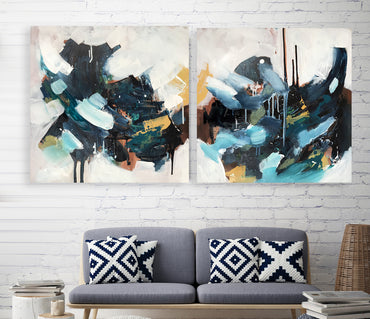 The Outsider - 152x76 cm - Diptych Original Painting