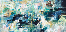 Load image into Gallery viewer, Crawling - 100x50 cm - Diptych Original Painting-OmarObaid.com
