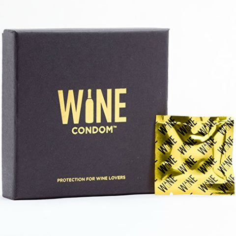 Wine Condoms Wine and Beverage Bottle Stoppers, Gold Foil Packaging, Set of 6