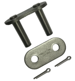 "100CL-K1B2 #100 Standard Roller Chain Connecting Link w/ K1 Attachment (1 1/4"" Pitch) - Froedge Machine"