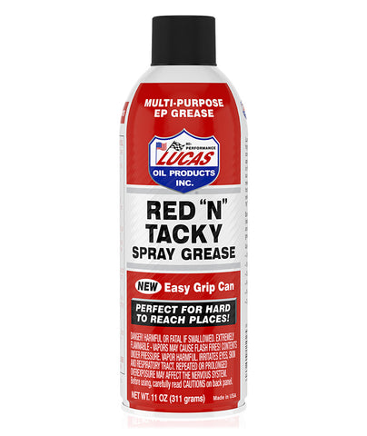 Lucas Red 'N' Tacky Grease Aerosal Spray, 11 Oz