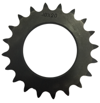 "20004020 20-Tooth, 40 Standard Roller Chain X-Series Hub Sprocket (1/2"" Pitch) - Froedge Machine & Supply Co., Inc."