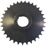 "80Q33 33-Tooth, 80 Standard Roller Chain Split Taper Sprocket (1"" Pitch) - Froedge Machine & Supply Co., Inc."