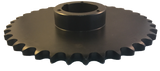 "80Q36 36-Tooth, 80 Standard Roller Chain Split Taper Sprocket (1"" Pitch) - Froedge Machine & Supply Co., Inc."