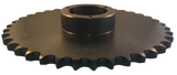 "80Q38 38-Tooth, 80 Standard Roller Chain Split Taper Sprocket (1"" Pitch) - Froedge Machine & Supply Co., Inc."