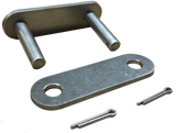 "81X Stainless Steel Conveyor Roller Chain Connecting Link (2.609"" Pitch) - Froedge Machine & Supply Co., Inc."
