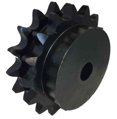 "D100B17 17-Tooth, 100 Standard Roller Chain Type B Double Sprocket (1 1/4"" Pitch)"