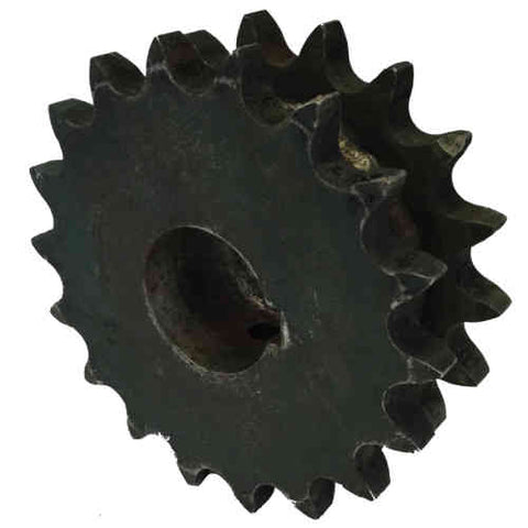 "D80Q18 18-Tooth, 80 Standard Roller Chain Split Taper Double Sprocket (1"" Pitch)"