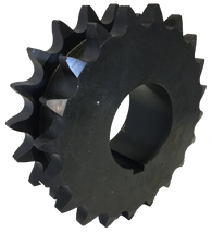 "DS60Q20 20-Tooth, 60 Standard Roller Chain Split Taper Double Single Sprocket (3/4"" Pitch) - Froedge Machine & Supply Co., Inc."