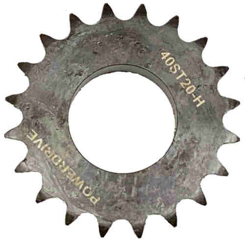 "H40H20 20-Tooth, 40 Standard Roller Chain Split Taper Sprocket (1 1/2"" Pitch)"