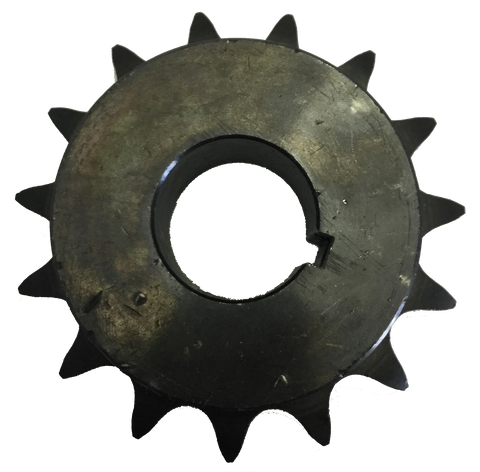 "H8015X114 15-Tooth, 80 Standard Roller Chain Finished Bore Sprocket (1"" Pitch, 1 1/4"" Bore) - Froedge Machine & Supply Co., Inc."