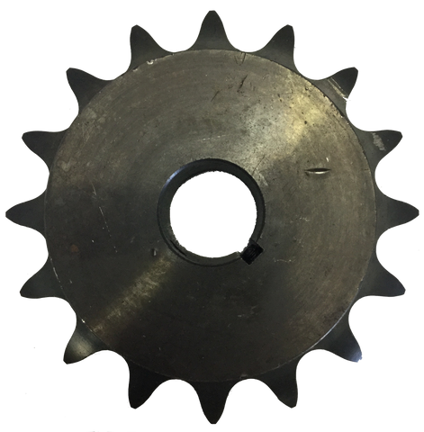"H8016X114 W516 16-Tooth, 80 Standard Roller Chain Finished Bore Sprocket (1"" Pitch, 1 1/4"" Bore) - Froedge Machine & Supply Co., Inc."