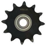 "HB80A12X34 12-Tooth, 80 Standard Roller Chain Type A Finished Bore Idler Sprocket (1"" Pitch, 3/4"" Bore) - Froedge Machine"