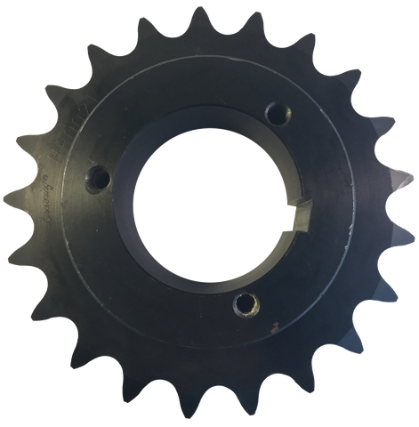 "H100Q21 21-Tooth, 100 Standard Roller Chain Split Taper Sprocket (1 1/4"" Pitch) - Froedge Machine & Supply Co., Inc."