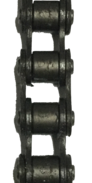"HKK #41 Standard Riveted Split Bushing Roller Chain (0.500"" Pitch) - SOLD BY THE FOOT"