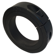"SET118-S Black Oxide Single Split Collar (1 1/8"" Bore, 1 7/8"" O.D.) - Froedge Machine & Supply Co., Inc."
