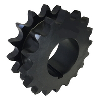 "DS80Q17 17-Tooth, 80 Standard Roller Chain Split Taper Double Single Sprocket (1"" Pitch) - Froedge Machine & Supply Co., Inc."