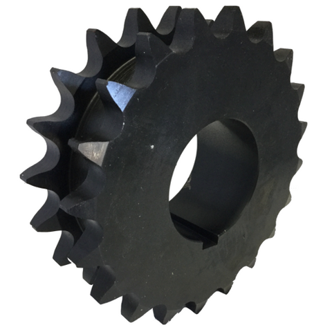 "Froedge DS80Q20 20-Tooth, 80 Standard Roller Chain Split Taper Double Single Sprocket (1"" Pitch) - Froedge Machine & Supply Co., Inc."