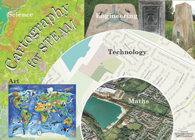Cartography for Science, Technology, Engineering, Art and Maths (STEAM) Subjects!