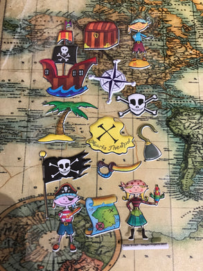 Exclusive Pirate Stickers x 13 - Foamy and Foldy