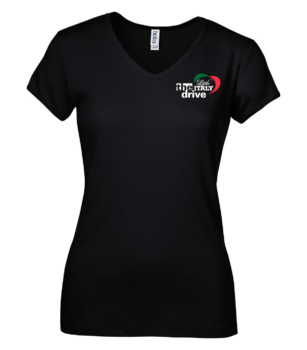 Ladies Vee Neck Tee - The Drive
