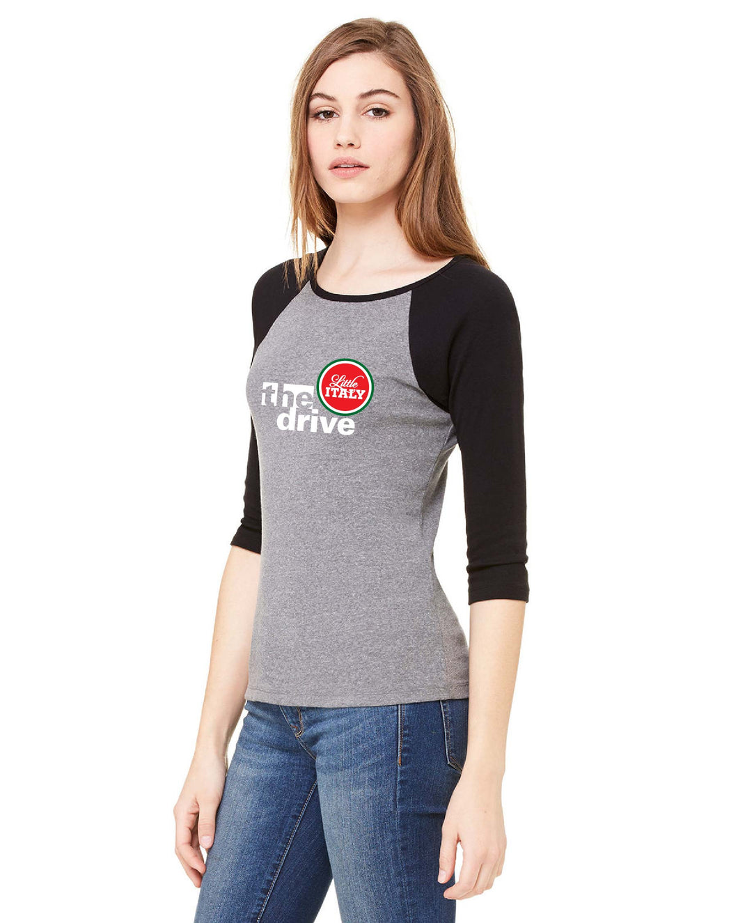 Ladies Baseball Tee - The Drive