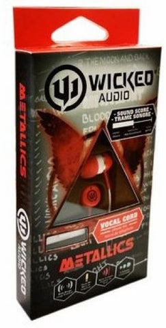 "Wicked Audio ""Metallics"" Earbuds w/ Microphone - Red"