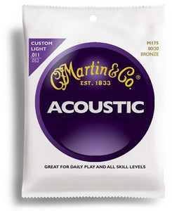 Martin M175 Original 80/20 Bronze Acoustic Guitar Strings Cst Lt 11-52