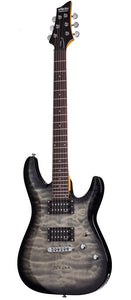Schecter C-6 Plus Electric Guitar – Charcoal Burst