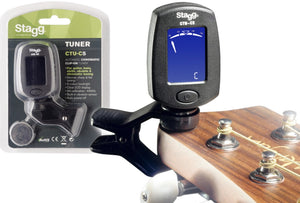 Clip-on chromatic tuner for guitar, bass, violin & ukulele CTU-C5