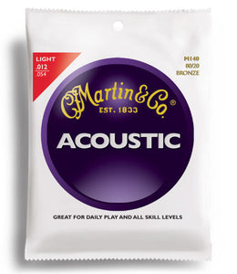 Martin M140 80/20 Bronze Acoustic Guitar Strings Light 12-54