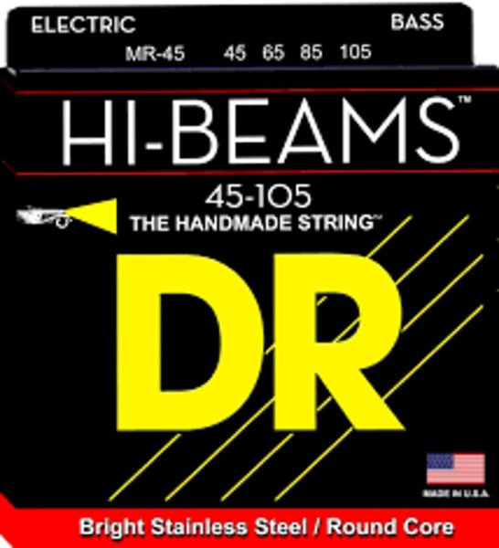 HI-BEAM™ Stainless Steel Bass Strings wound on Round Cores MR45