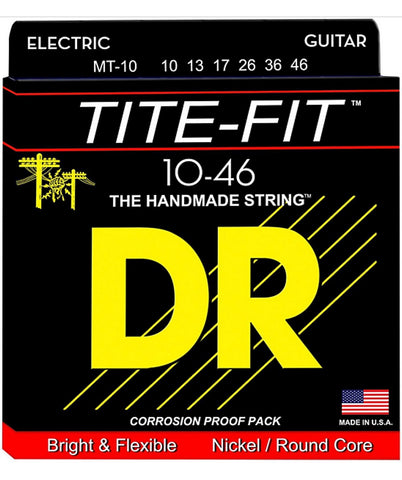 DR Strings Tite-Fit MT-10 Medium-Tite Nickel Plated Electric Guitar Strings