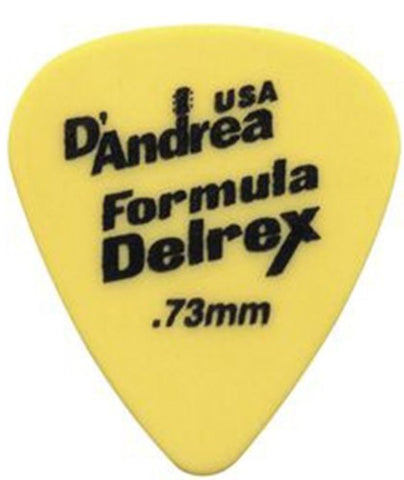 D'Andrea RD351, 0.73MD Formula Delrex Guitar Picks(72)