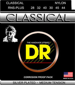 DR Strings Nylon Classical Silver Plated Medium Tension RNS-Plus