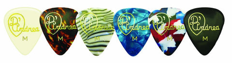 D'Andrea Celluloid Guitar Picks (72) Med
