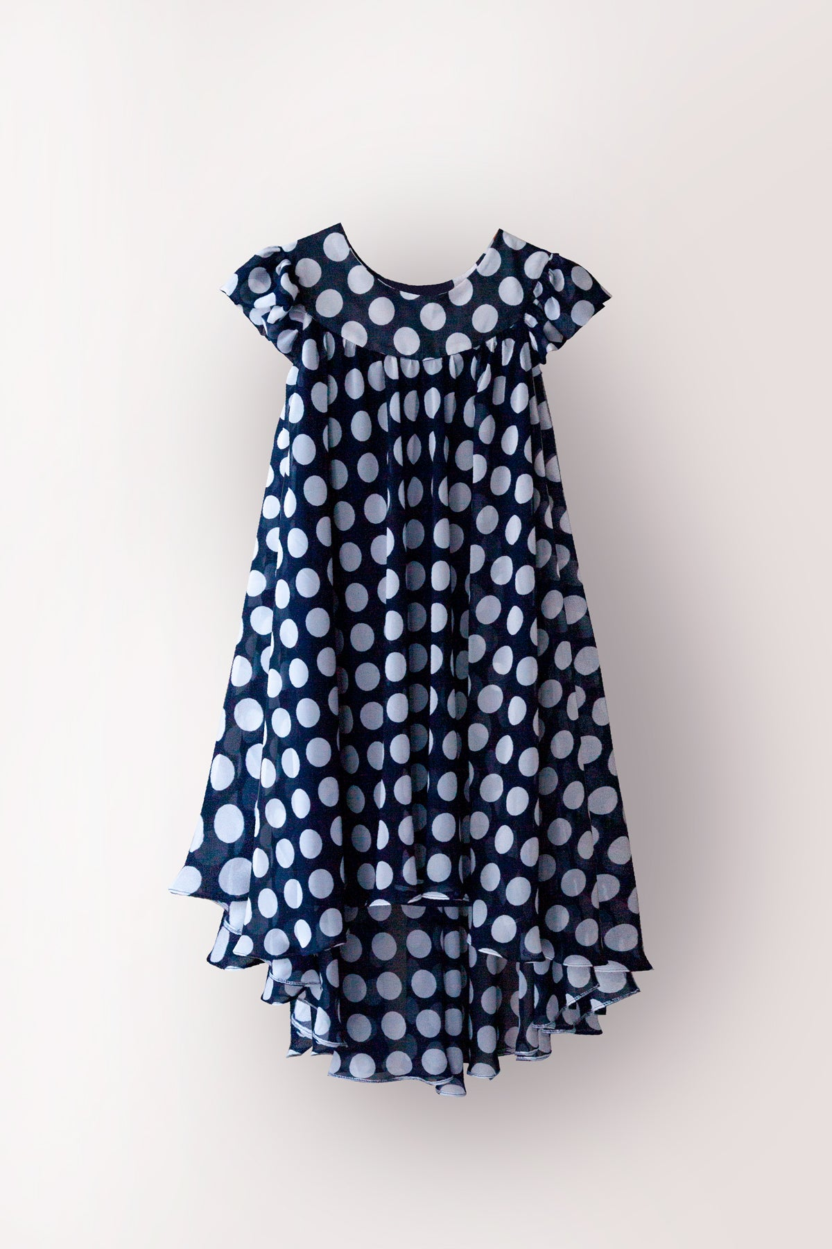 Mersuli Polka Dots Blue Dress