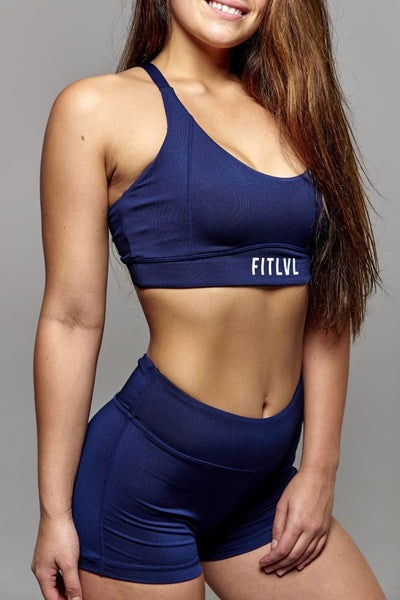 Navy Blue Sports Bra