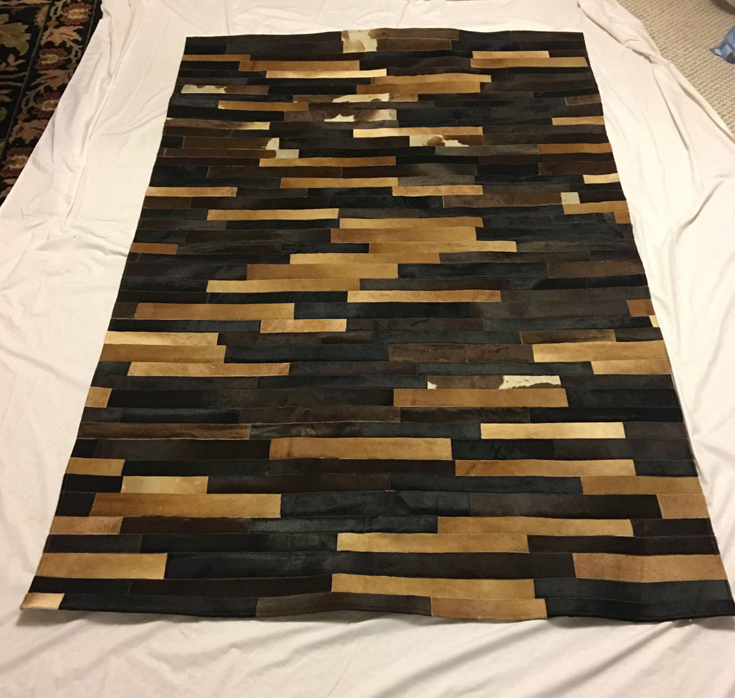 Beautiful multi color leather rug