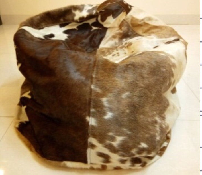 Multicolor cowhide bean bag chair