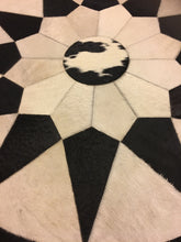 Soft cowhide round leather rug