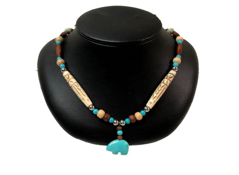 Collier Ours Turquoise #726