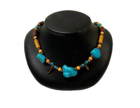 Collier avec Turquoise #911
